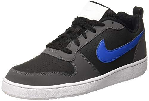 Nike Court Borough Low, Sneaker Uomo, Nero (Nero/Blu Nebula/Dark Grigio/Bianco 006), 38.5 EU