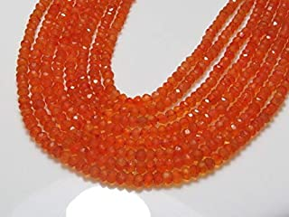 Jewel Beads Natural Beautiful jewellery Carnelian - 14 Inches Long Micro Cut Faceted Rondelle Beads Natural Orange Color Nice Shine Real Wholesale Price size 3.5 mmCode:- BB-36503