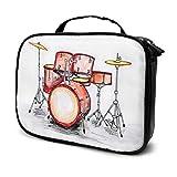 Set de batería Musical Travel Beauty Box Bag 1 Bolsa de cosméticos Bolsa de Maquillaje Bolsa Impresa multifunción para Mujeres