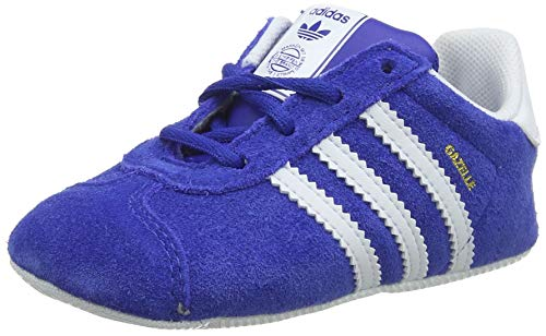 adidas Gazelle Crib, Zapatillas Unisex bebé, Azul (Collegiate Navy/Footwear White/Gold Metallic 0), 17 EU