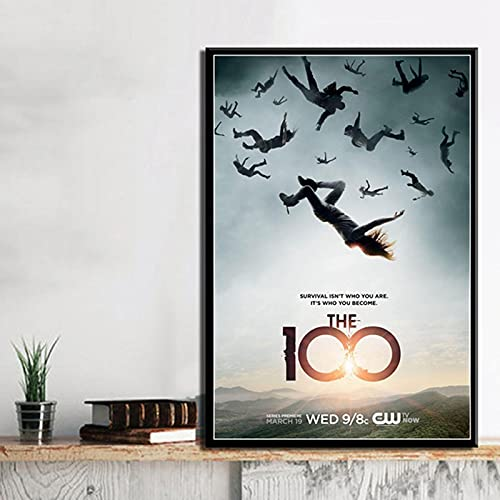 Yiwuyishi Canvas Poster 100 Season TV Series Show Movie Modern Painting Wall Art Pictures Living Room Picture 50x70cm(19.68x27.55 in) P-950