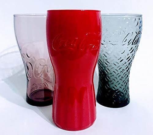 /Coca Cola Mc Donald's - Vasos de cristal (0,3 L, 3 unidades)