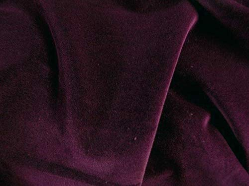 SyFabrics 100% Cotton Velvet Fabric 56 inches Wide Dark Burgundy