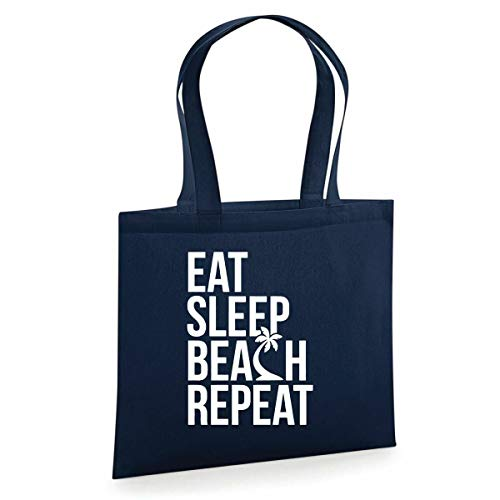 Eat Sleep Beach - Bolsa de repetición divertida para la vida