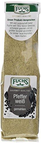 Fuchs Pfeffer weiß gemahlen, 2er Pack (2 x 70 g)