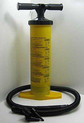 Land-Haus-Shop Doppelhub Handpumpe mit versch. Aufsätzen 2 x 2 L, Luft Matratzen Hub Hand Pumpe (LHS)