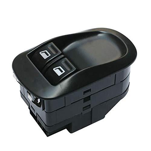 KUANGQIANWEI Botonera elevalunas Botón de Interruptor Triple de Ventana eléctrica FIT para Peugeot 206 CC, 2D, 2A, SW, 2E, 2K 6554.WQ