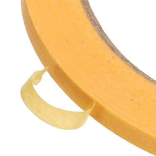 Isolierbänder 50M Gelbes Klebeband 6mm / 10mm / 12mm / 18mm / 50mm Isolierklebeband Abdeckfarbe Sprühpapierband (Width : 18mmX50M)