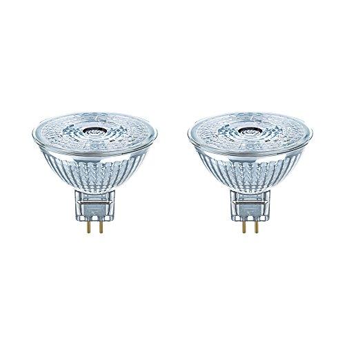 Osram LED Star MR16 Reflektorlampe, GU5.3-Sockel, 4, 6 Watt - Ersatz für 35 Watt, 36 ° Abstrahlungswinkel, Warmweiß - 2700K, 2er-Pack