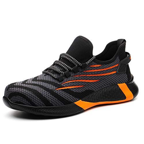Chaussures de sécurité S3 pour homme et femme - Légères - Avec coque en acier