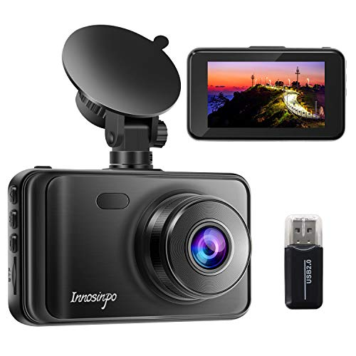 "Dash Cam【2021 New Version】 1080P FHD DVR Car Dashboard Camera Recorder 3"" LCD Screen 170° Wide Angle, Super Night Vision, G-Sensor, WDR, Parking Monitor, Loop Recording, Motion Detection"