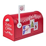 Mr. Christmas Deluxe Santa's Enchanted Mailbox Christmas Décor, Red