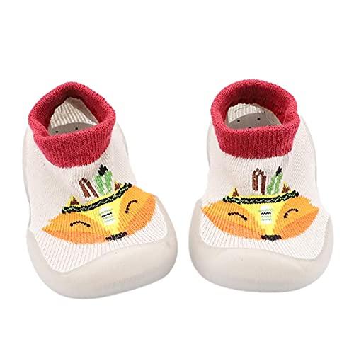 Baby Schuhe 0-6 Monate Lauflernschuhe Mädchen Jungen krabbelschuhe Rutschfest Bodensocken Indoor Sockenschuhe Sommer Kleinkind Schuhe Cartoon Stricken Kinderschuhe