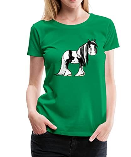 Spreadshirt Irish Tinker Pferd Seitlich Frauen Premium T-Shirt, M, Kelly Green