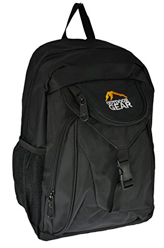 Mens Ladies Outdoor Gear Small Backpack Rucksack Daypack Walking Travel Work (Black Trim (all black))
