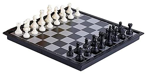 Juego de ajedrez sólido Atractivo Juego de Rompecabezas Juegos de ajedrez magnético con Bandeja Plegable Diversión educativa (Color : B, Size : 36x36cm)