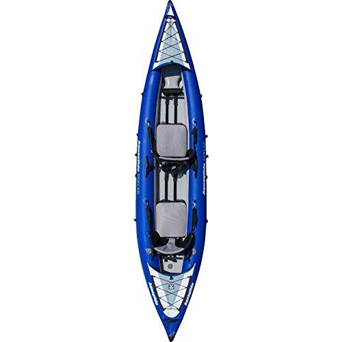 Aquaglide Canotto Gonfiabile Kayak Chelan Two HB Canoa, 409cm x 91cm L B Aria Boot 2Persone