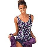 LFF SWIM Costumi da Bagno Donna Sexy Vita Alta Floral Print Tankini Top Halter Neck Bikini Swimsuit One Piece Coordinati Beachwear,A,L
