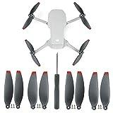Linghuang Repuesto de Hélices para DJI Mavic Mini 2 Propellers Liberación Rápida Plegable de Bajo Ruido con Hoja de Ala Repuestos para Hélices Accesorios para Drones (8 PCS Negro + Rojo)