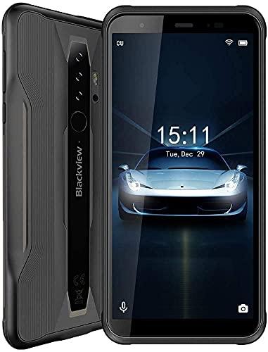 Blackview BV6300 - Teléfono móvil Rugoso, antigolpes, IP68/IP69K, Pantalla de 5,7 Pulgadas, 3 GB + 32 GB, cámara Trasera de 13 MP, batería de 4380 mAh, Android 10, Huella Digital Dual 4G, Color Negro