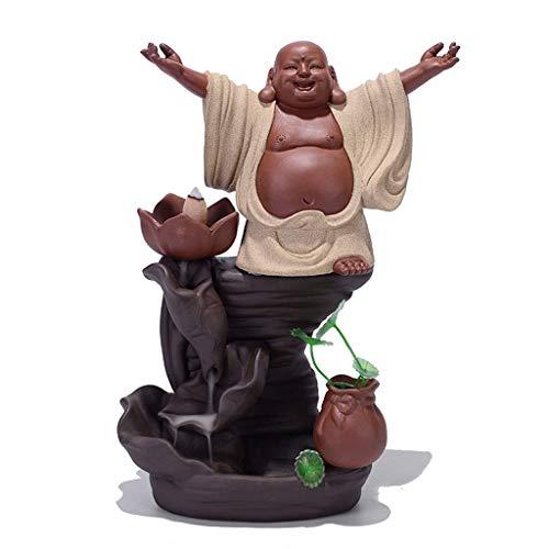 Rückfluss Räucherbrenner Aromatherapie Dekor Weihrauchhalter Dekoration Weihrauchbrenner Buddha, Wasserfall Backflow Räucherbrenner, Clay Weihrauchhalter, für Home Office Yoga Räucherstäbchen B Xping