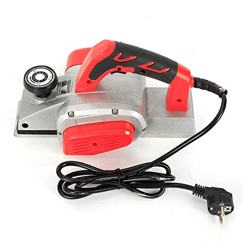 Electric Planer - 1KW Electric Hand Planer with 82mm Width and 1-2mm Depth, Electric Wood Planer with Blade Sharpener for Wood Woodworking