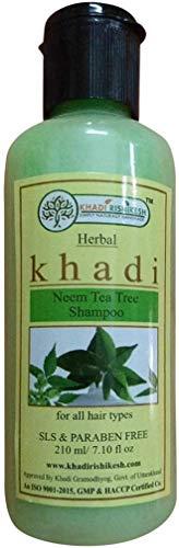 Glamorous Hub Khadi Rishikesh Herbal Neem Tea Tree Champú 210 ml (el embalaje puede variar)