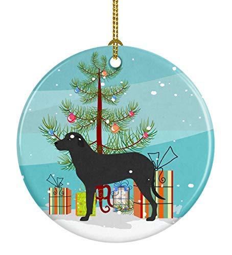 Adorno de cerámica para árbol de Navidad con diseño de perro pastor de Mallorca