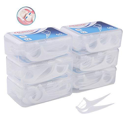 Púas dentales de hilo dental Hilo dental 360 Pcs Palillo de dientes, púas de dientes para interdental oral limpieza, dientes limpiar sticks de cuidado bucal para la familia, hotel, viajes