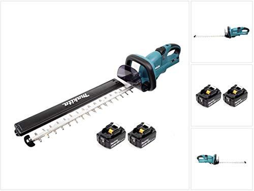 Makita DUH 551 T Akku Heckenschere 36V 550mm + 2x Akku 5,0Ah - ohne Ladegerät