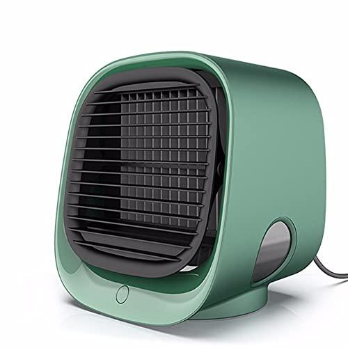 ZXAOYUAN Enfriador De Aire, Interfaz USB para Enfriar El Aire, Ajuste De Tres Velocidades, Ajuste De Tres Velocidades con Luz Nocturna, Humidificador Silencioso, Ventilador De Oficina En Casa