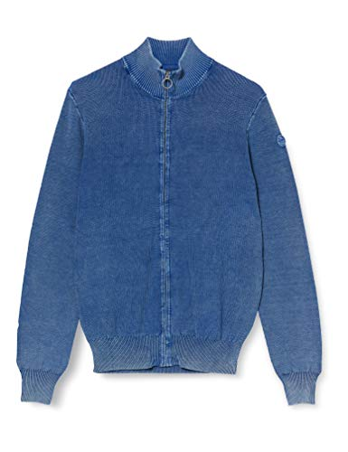 NORTH SAILS Herren Full Zip Pullover, Blau (Ocean Blue 0790), Large