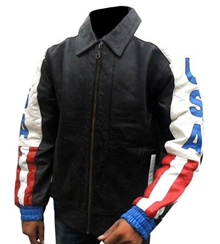 Classyak - Herren USA Flagge Motorrad Real Lederjacke