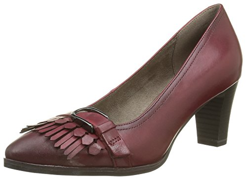 Tamaris Damen 24408 Pumps, Rot (Bordeaux 549), 38 EU