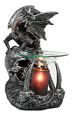 Ebros Gothic Smaug Castle Guardian Dragon Electric Oil Burner Tart Warmer Aroma Scent Statue