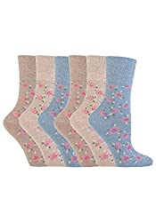 6 Pairs of Gentle Grip Ladies socks by sockshop This classic collection of designs look as good as they feel too, made from soft, comfortable cotton rich yarn Help to keep your feet odour free with flat seamed toes for extra wearability For anyone wh...