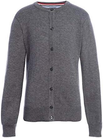 Tommy Hilfiger Cardigan Sweater Kids School Uniform Clothes for Little or Big Girls Medium Grey product image