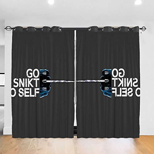 HONGYANW Vorhänge WOL-Verine Go Snikt Yo Selbstdurchlässige Thermo-Isolierender Vorhang für Schlafzimmer, Wohnzimmer, 132,9 x 182,9 cm, 2 Paneele