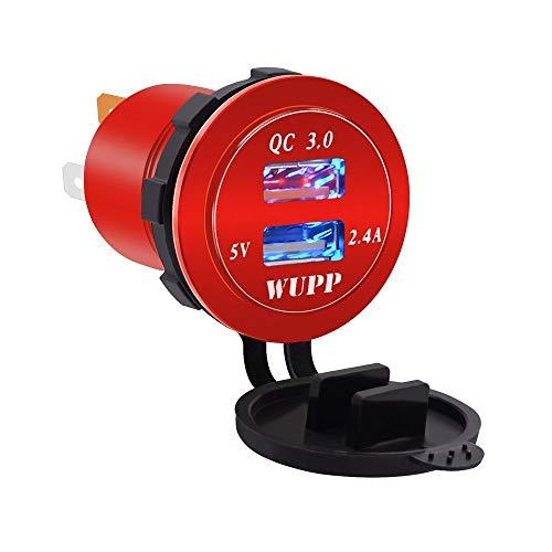 RoadRoma Rojo Caliente de la Carga del Cargador del Coche del USB de la aleación de Aluminio de Las Piezas de automóvil transfronteriza