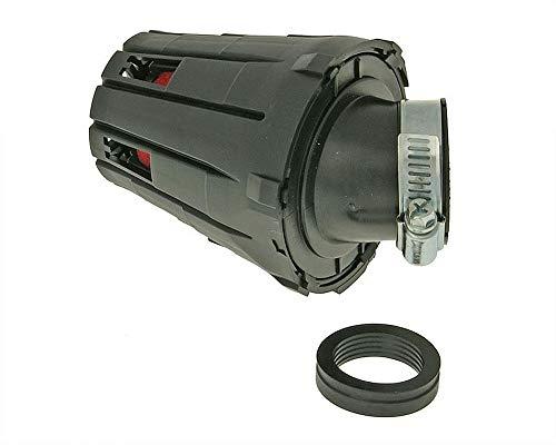 Luftfilter boxed - schwarz 45 Grad 28/35