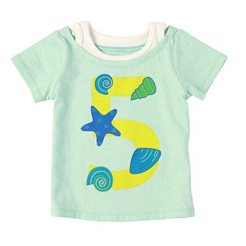 Mer coquillages pur coton Infant Tee T-shirt pour bébé Vert 80 cm (12–18 m)