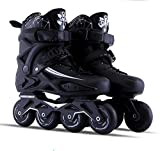 Old street Adult Skates Roller Skating Shoes Slalom Sliding Adult Kids Shoes,Black,39