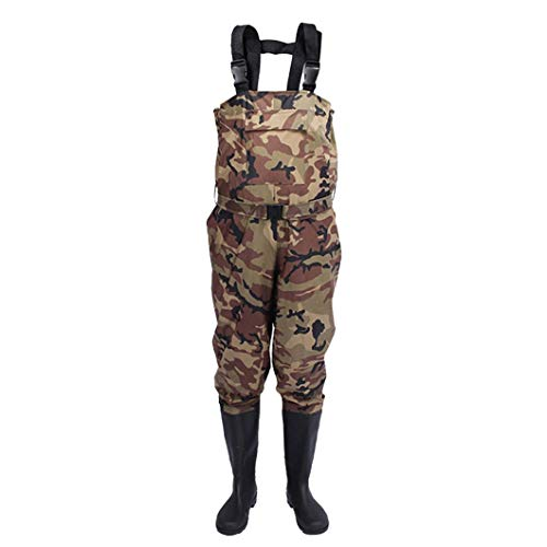 GNNZFL Wading Waders Fishing Pants Boots Waterproof Hunting Boots Suit Trousers Pant WJ-001 CAMO 43