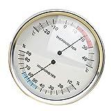 Homyl Higrómetro Termómetro Numérico 2 en 1 Higrómetro de Pared Ahorcamiento Monitor para Uso Doméstico,Ancho 132 Mm