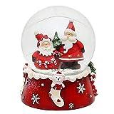 Dekohelden24 - Boule à neige rouge et...