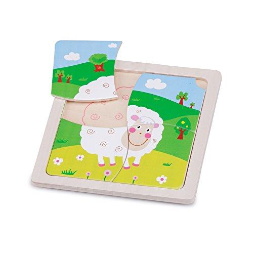 New Classic Toys Mini Puzzle Mouton Jeu Éducatif pour Enfants
