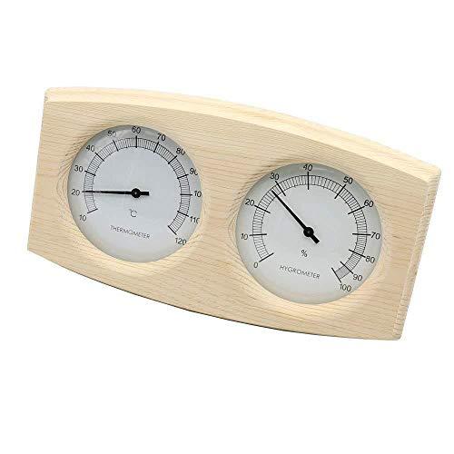 Temperatura Termómetro Medidor de Humedad Relativa y la Humedad, Doble Tabla Sauna Piscina Accesorios de Madera