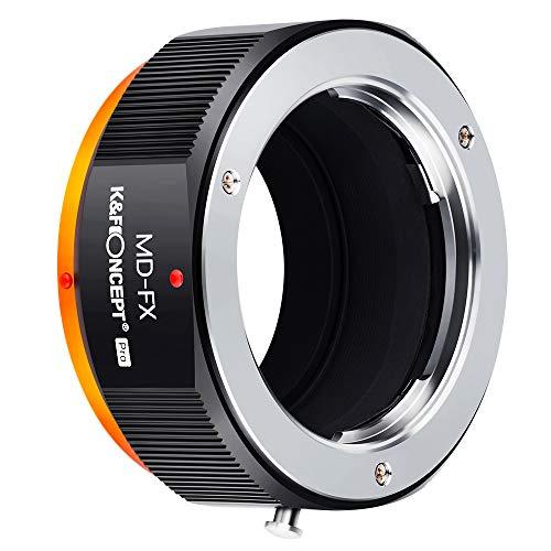 K&F Concept - Adaptador de Lentes, MD-FX Compatibles con Objetivos Lentes MD/MC,Minolta y Cuerpos de Cámara Fujifilm,Fuji,FX,Montura X Cámara