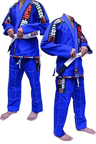 COTESCO Koop 450 GSM Braziliaanse Mma Blauw Ultra Licht Bjj Patches Gi Jiu Jitsu Gi Gear Kleding Kimono Parel Weave 100% Katoen Uniform Suit Te Koop