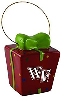 Wake Forest University-3D Ceramic Gift Box Ornament